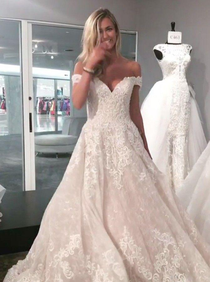 Mariage - Image Result For A Line Off The Shoulder Lace Wedding Dress