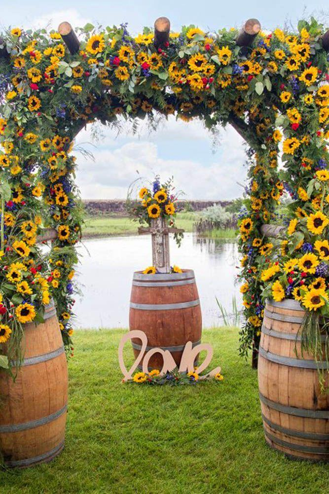 30 Sunflower Wedding Decor Ideas For You Big Day 2866221 Weddbook