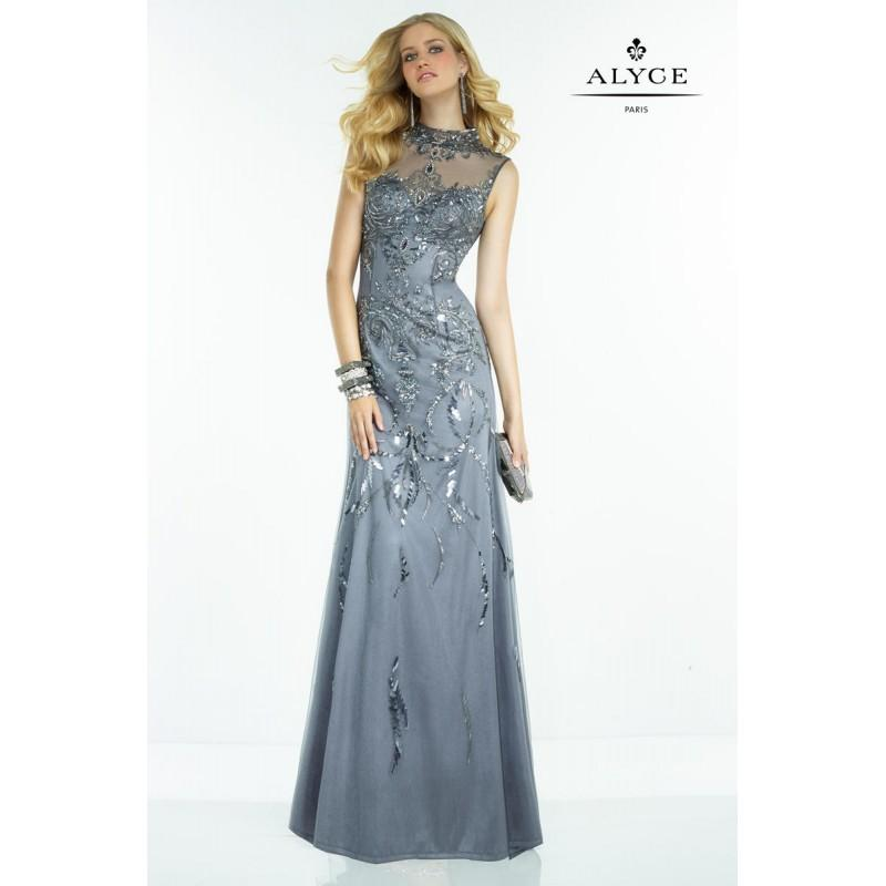 Свадьба - Gunmetal Claudine for Alyce Prom 2533 Claudine for Alyce Paris - Rich Your Wedding Day