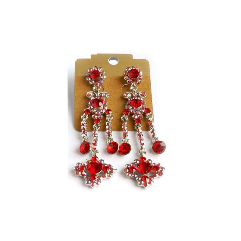 Wedding - Helens Heart Earrings JE-X005203-S-Red Helen's Heart Earrings - Rich Your Wedding Day