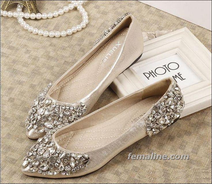 زفاف - 28 Glamorous Flat Wedding Shoes Can Make You Comfort And Style