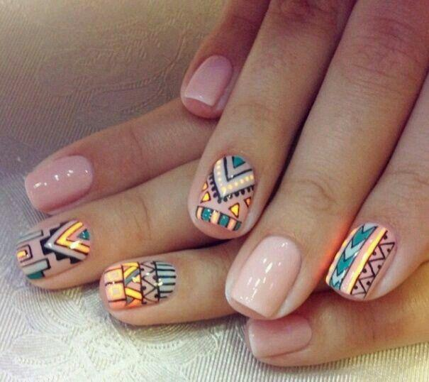 زفاف - 19 Tribal Inspired Nail Art Designs
