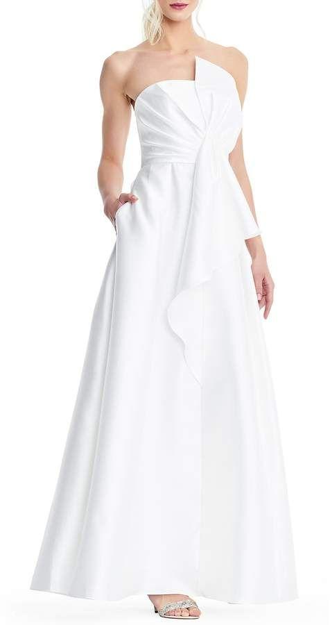 Dillards Wedding Dresses.Adrianna Papell Mikado Strapless Bow Gown Dillards Ad 2866831