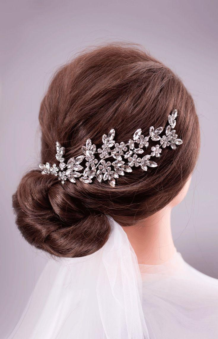 Mariage - Wedding Hair Accessories Bridal Hair Piece Wedding Headband Bridal Back Headpiece Crystal Hairpiece Rhinestone Headpiece Bridal Hair Jewelry