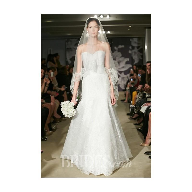 Свадьба - Carolina Herrera - Spring 2015 - Corrina Strapless Lace Trumpet Wedding Dress with a Sweetheart Bodice - Stunning Cheap Wedding Dresses