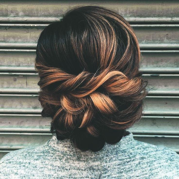 Свадьба - For When I Don't Want My Hair Down #updo #braided #highlights