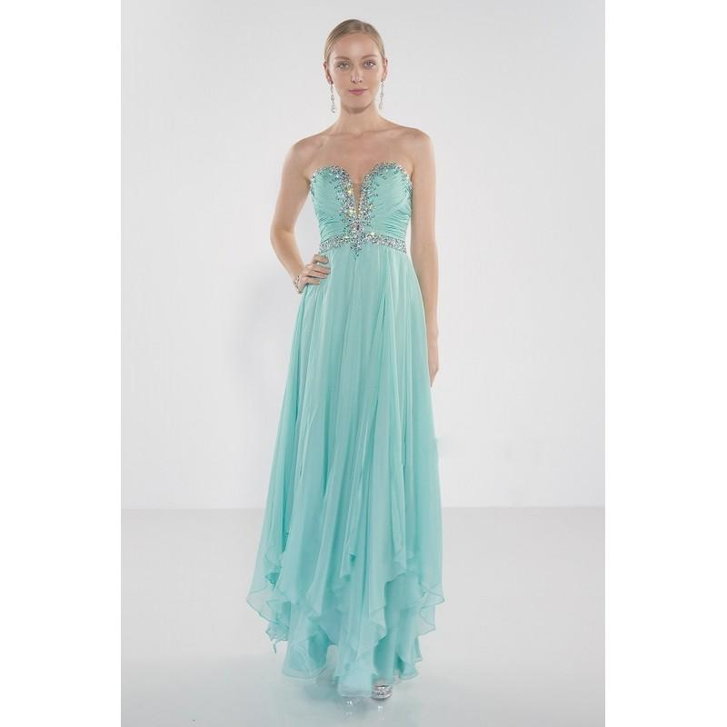 Wedding - Alyce Paris - Strapless Sweetheart Beaded and Ruched Long Dress 1022 - Designer Party Dress & Formal Gown