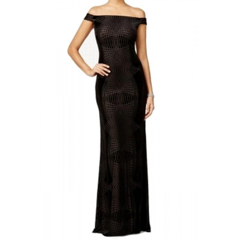Wedding - Adrianna Papell - AP1E200798 Off-Shoulder Sheath Dress - Designer Party Dress & Formal Gown