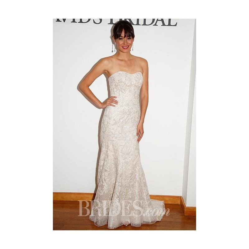 Davids Bridal Spring 2014 Strapless Beaded Lace Mermaid