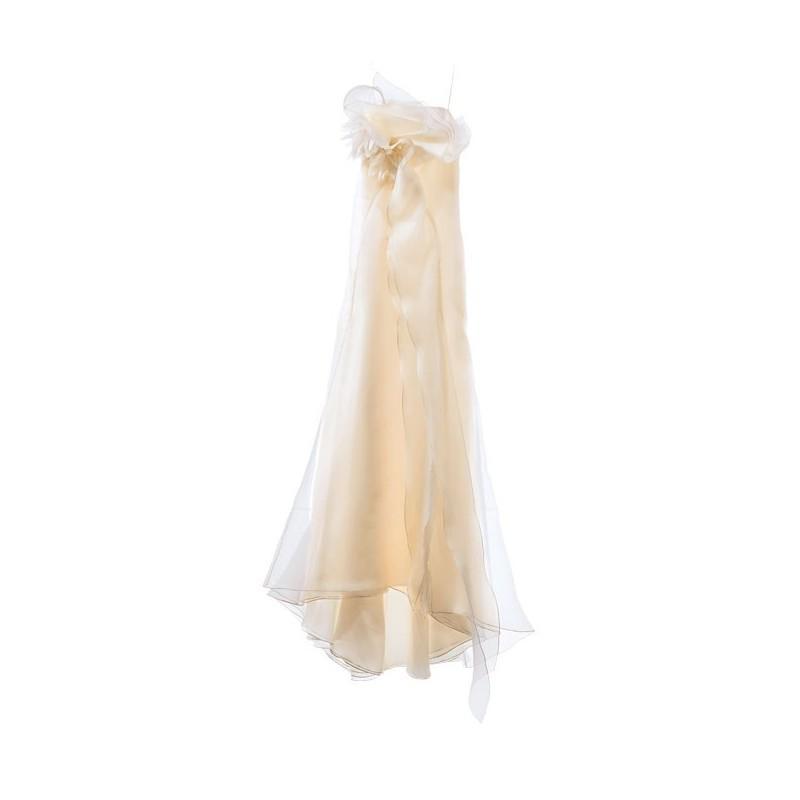 Wedding - Angel Sanchez - Asymmetrical Ruffled Organza Sheath Wedding Dress - Stunning Cheap Wedding Dresses