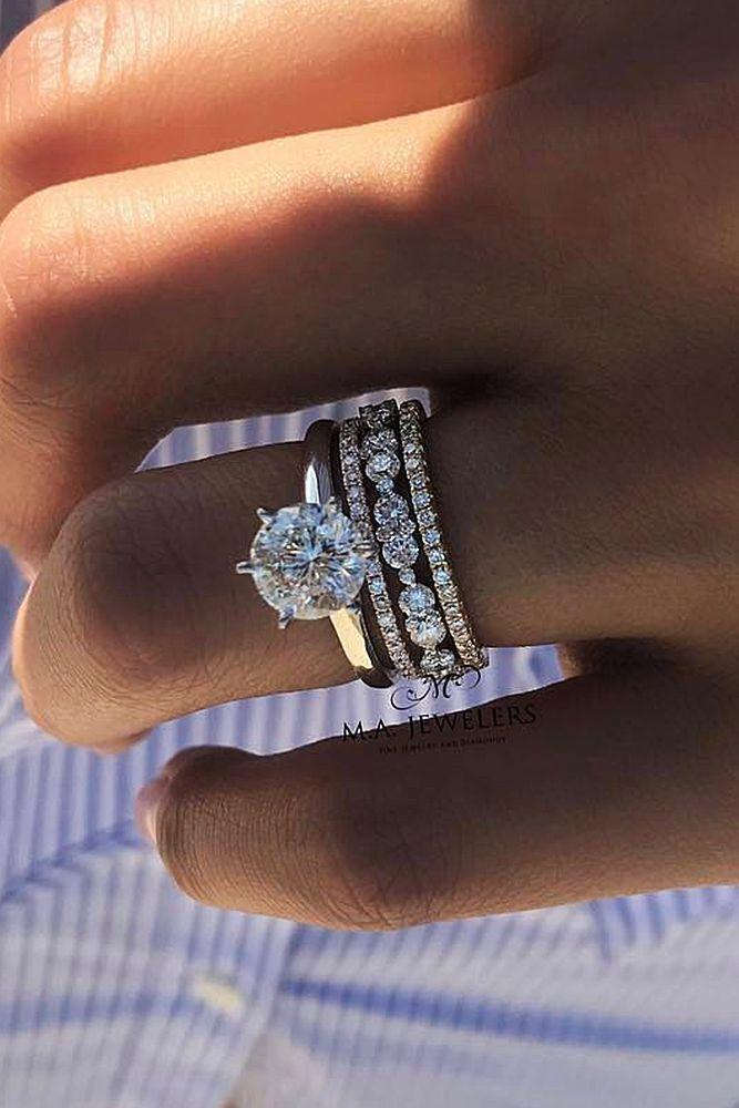 Wedding - Damn! I Would Be Absolutely Fine With My Rings Being CZ If They Looked Like That Lol #weddingring