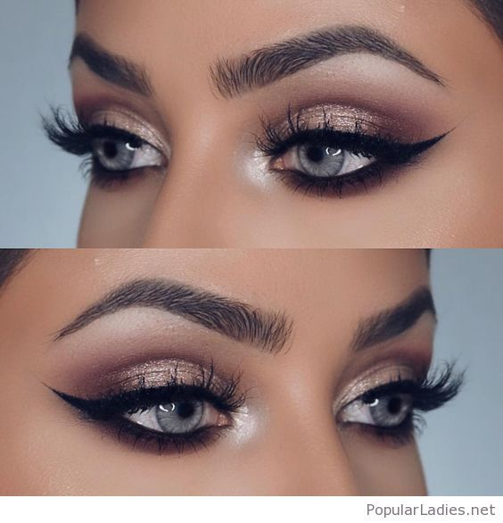 Mariage - Nude Eye Makeup For Blue Eyes With Some Glitter