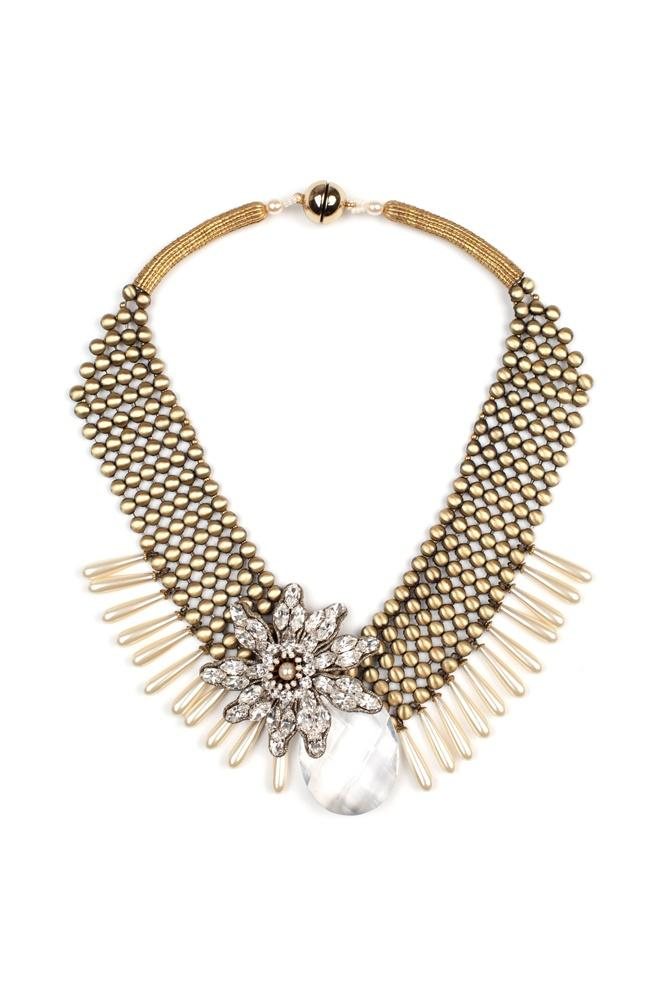 Mariage - Tataborello Crystal Cream Necklace