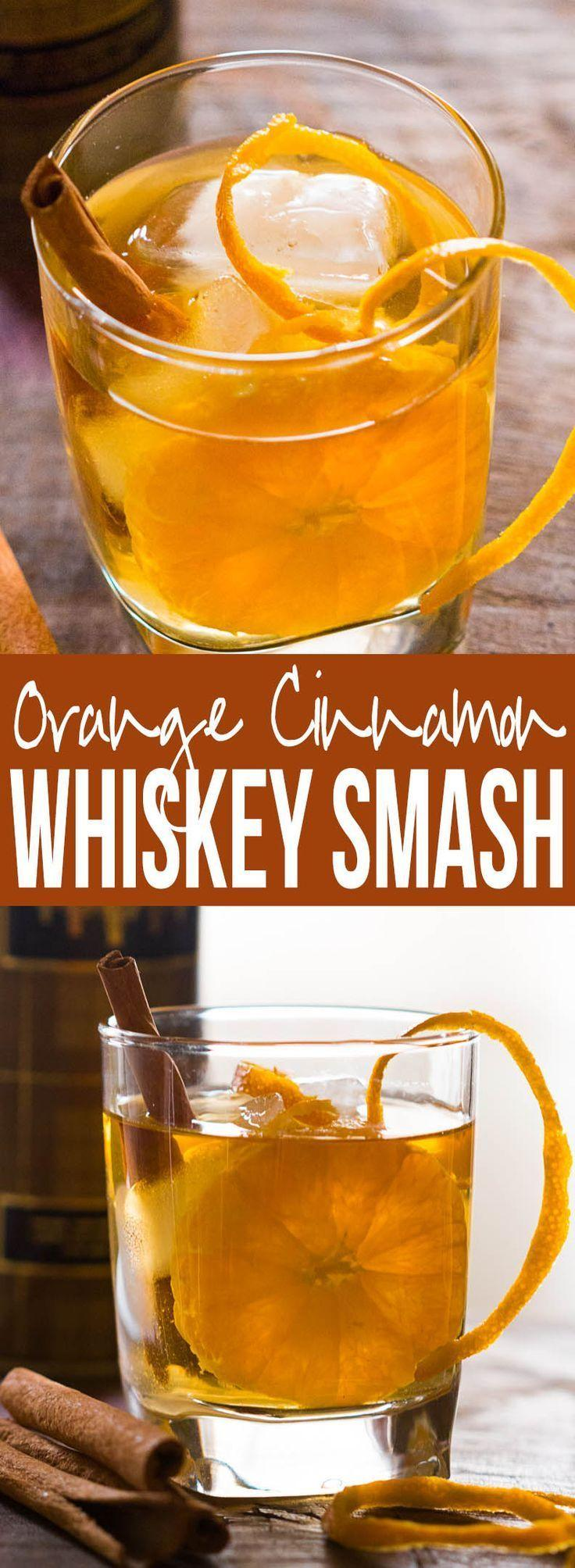 Hochzeit - Orange Cinnamon Whisky Smash