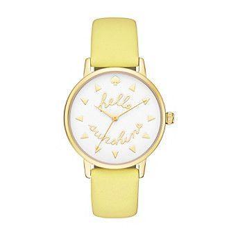 Mariage - Kate Spade New York® Women's Goldtone Metro Hello Sunshine Lemonade Leather Watch