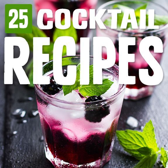 Hochzeit - 25 Cocktail Recipes That Are Paleo-Approved