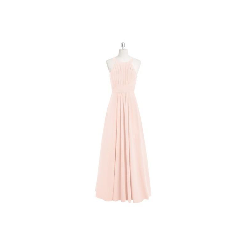 Mariage - Pearl_pink Azazie Winona - Chiffon Floor Length Halter Keyhole Dress - Charming Bridesmaids Store