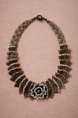 "زفاف - ""Fountain"":  Brass, Lurex Covered Brass, Swarovski Crystals, Glass Pearls. Handmade In Italy"