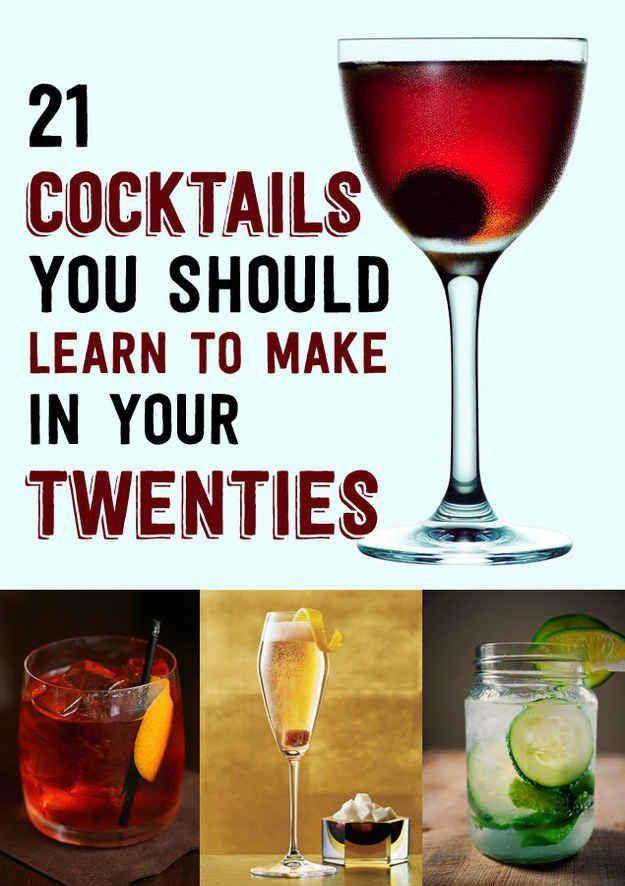Hochzeit - 21 Cocktails You Should Learn To Make In Your Twenties