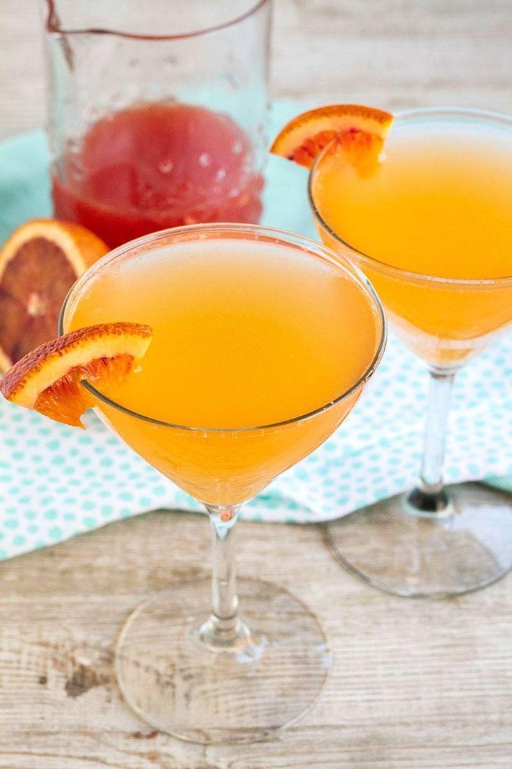 Hochzeit - Sparkling Blood Orange Cocktail