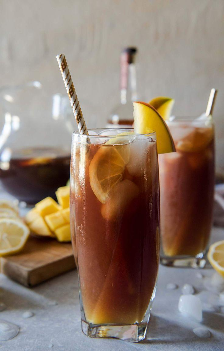 Hochzeit - Change Up Your Brunch Beverage Game With This Southern Spiked Mango Iced Tea! Arnold Palmer-style Lemon Iced Tea Combined With Homemade Mango Necta…