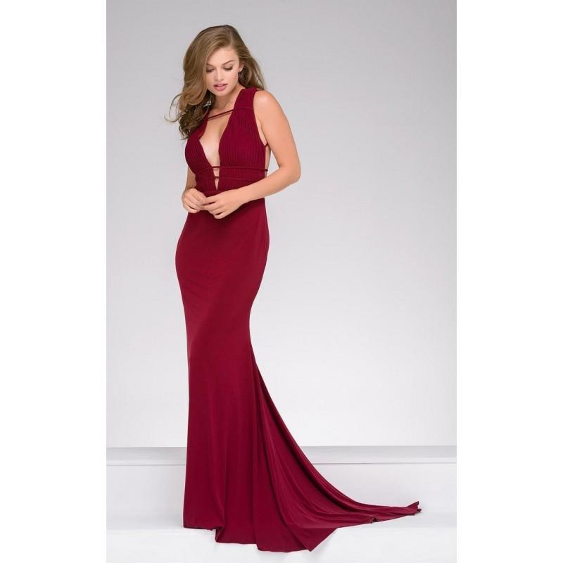 Свадьба - Jovani - 45225A Strappy Sleeveless Sheath Gown - Designer Party Dress & Formal Gown