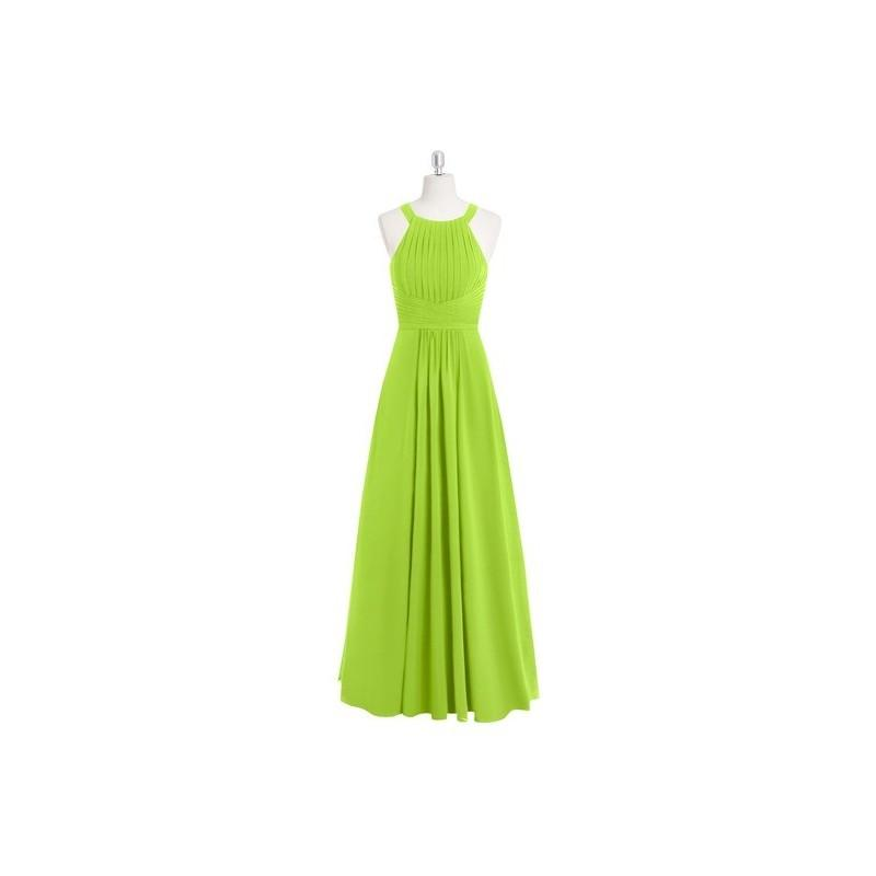 Wedding - Lime_green Azazie Winona - Keyhole Chiffon Halter Floor Length Dress - Simple Bridesmaid Dresses & Easy Wedding Dresses