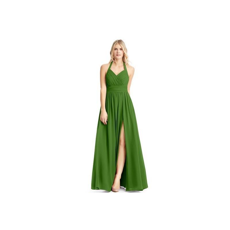 Свадьба - Moss Azazie Veronica - Floor Length Back Zip Chiffon Halter Dress - Simple Bridesmaid Dresses & Easy Wedding Dresses
