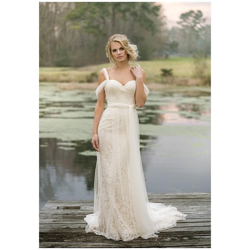 Свадьба - Lillian West 6455 - Sheath Sweetheart Natural Floor Chapel Tulle - Formal Bridesmaid Dresses 2018