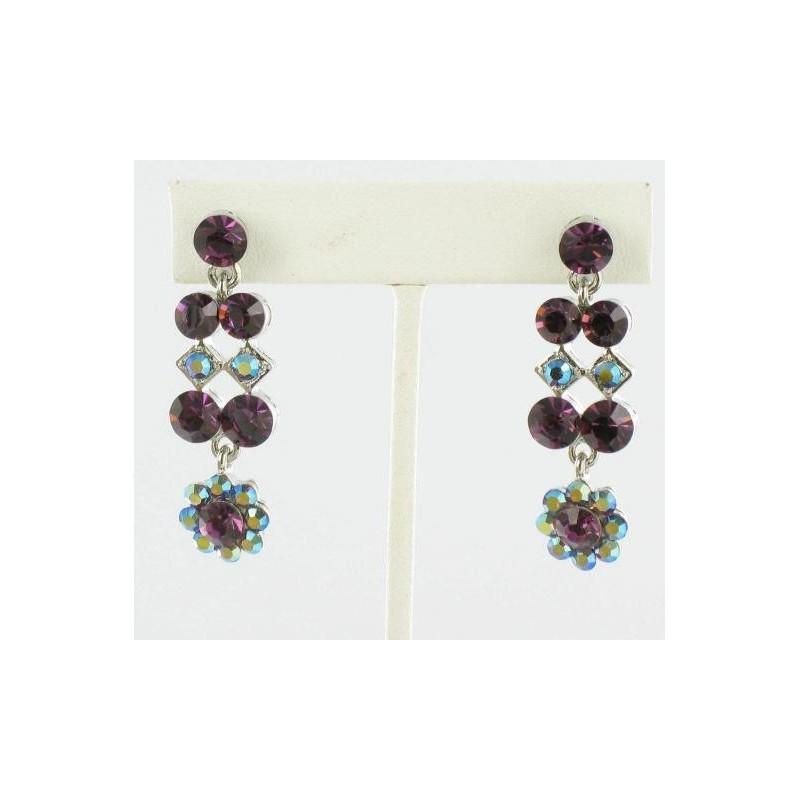 Wedding - Helens Heart Earrings JE-X580-S-Purple Helen's Heart Earrings - Rich Your Wedding Day