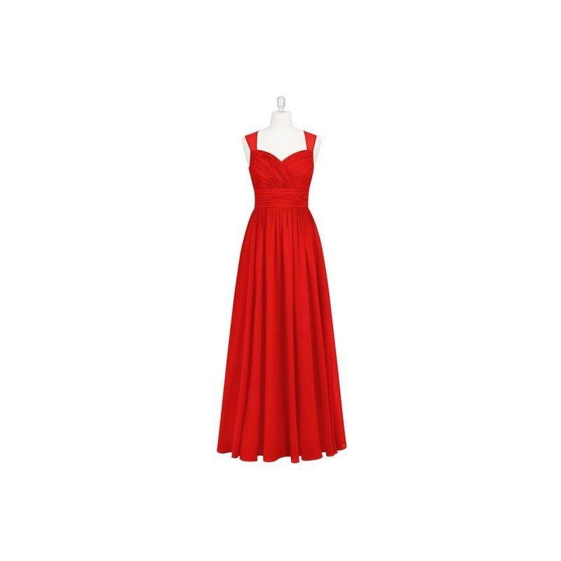 Wedding - Red Azazie Dara - Illusion Sweetheart Chiffon Floor Length Dress - Charming Bridesmaids Store