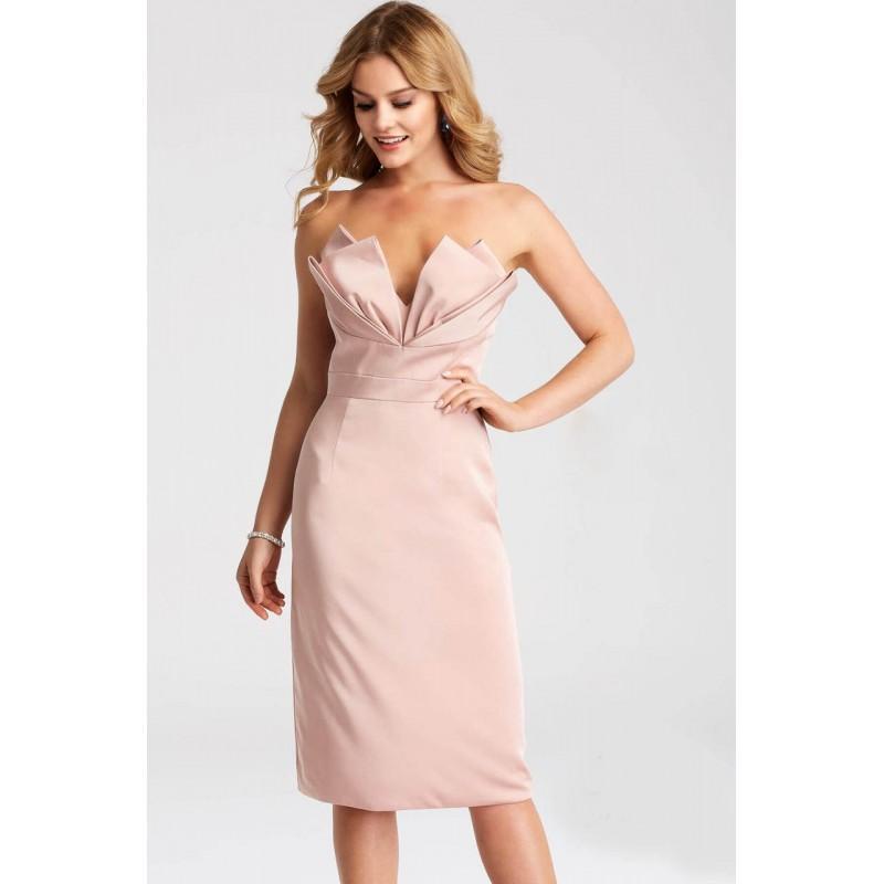 Wedding - Jovani - JVN55656 Strapless Origami Satin Dress - Designer Party Dress & Formal Gown