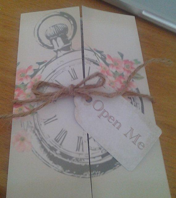 Свадьба - CUSTOM ORDER Alice In Wonderland Wedding Invitations With Matching RSVP's, Envelopes Included- Set Of 30