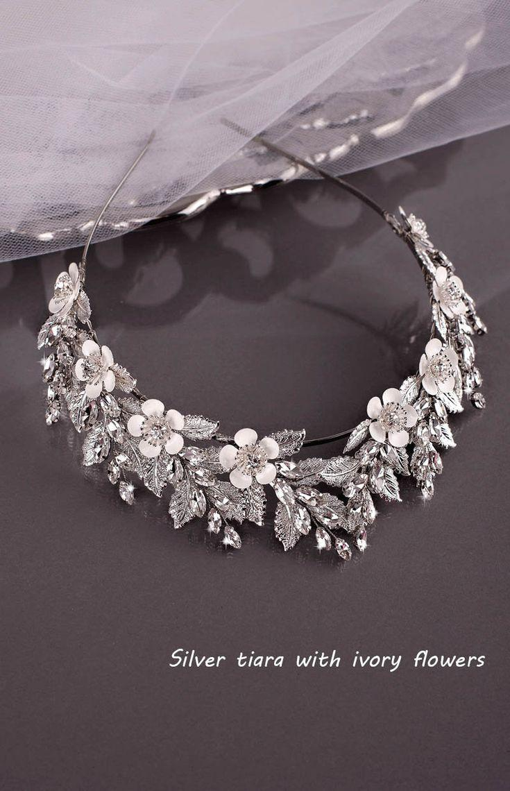 Свадьба - Bridal Tiara Wedding Tiara Bridal Hairpiece Rhinestone Tiara Rhinestone Crown Wedding Crown Crystal