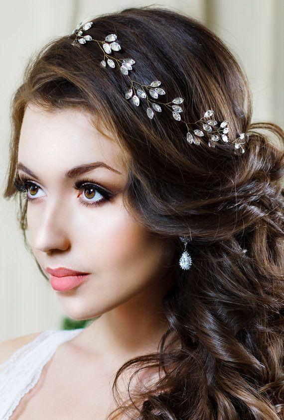 زفاف - Bridal Headband Crystal Headpiece Crystal Tiara Wedding Hair Accessories Crystal Crown Bridal Tiara Bridal Hair Jewelry Bridal Halo