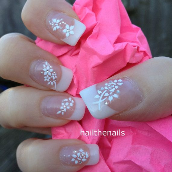 Hochzeit - Bow Tip Nail Art Water Transfer Nails Decal Y980