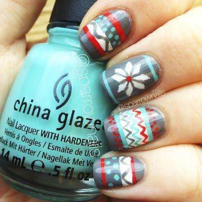 Hochzeit - SparrowNails: Winter Sweater Nails