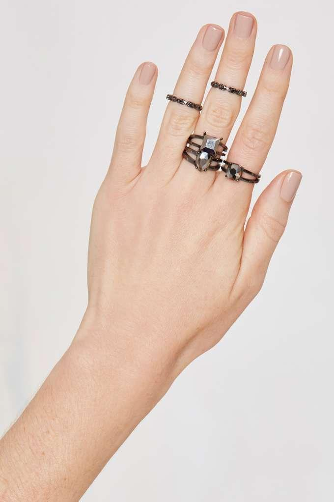 Mariage - Son Of A Gunmetal 5-pc Ring Set - Gifts Under $50