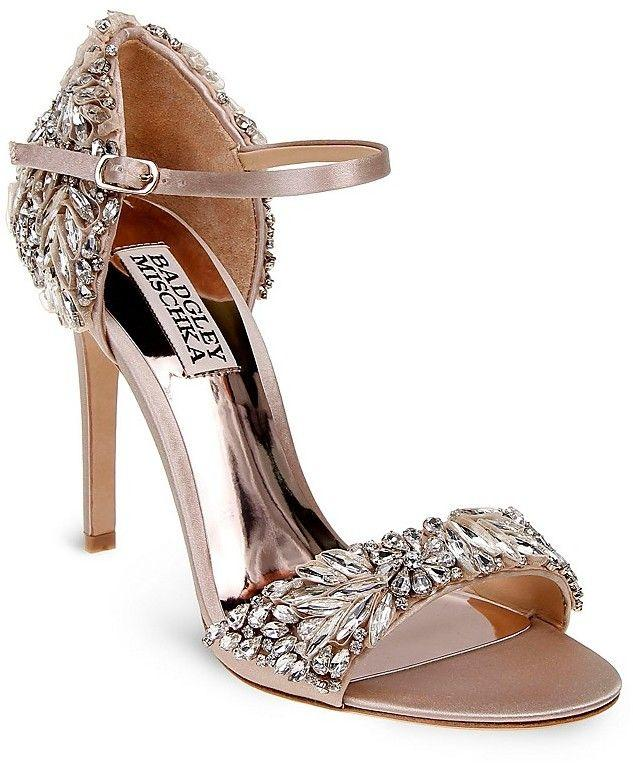 03fedcd6644 Badgley Mischka Tampa Embellished D Orsay Ankle Strap Sandals ...
