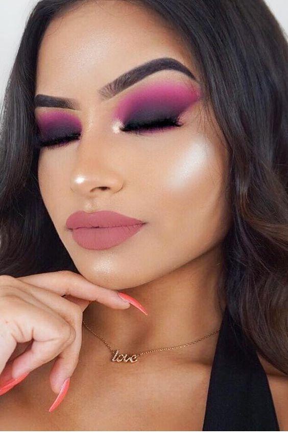 زفاف - Amazing Pink And Black Eye Makeup