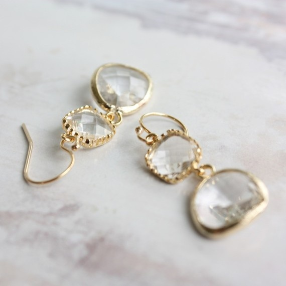 Mariage - Romantic Earrings By Ten Things. $44