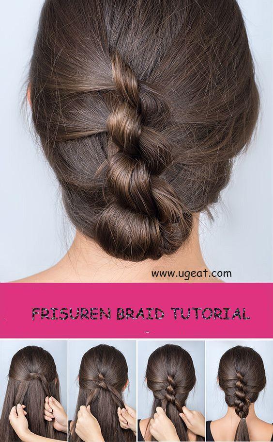 زفاف - How To Make A Frisuren Braid. #braid Tutorial#hairstyle#frisuren Braid