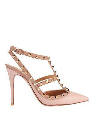 Hochzeit - Valentino Rockstud Cage Pump: Pink Rose