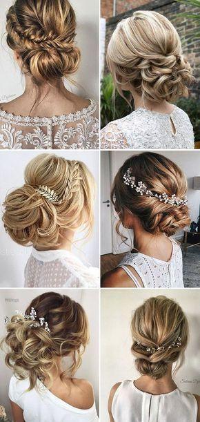 زفاف - Loose Updo Bridal & Wedding Hairstyle Ideas