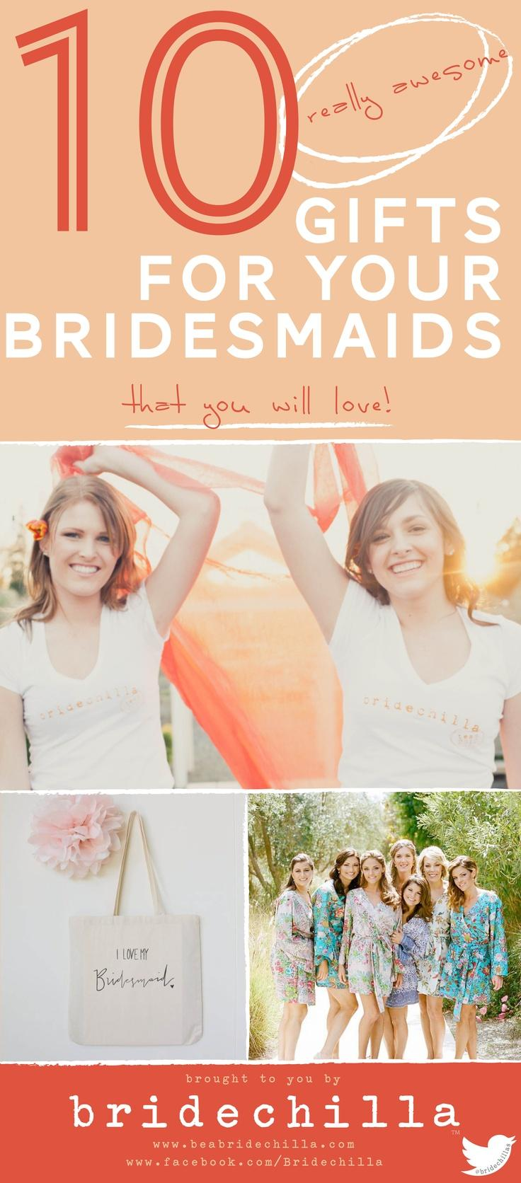 Wedding - Click The Image To Find Gift Ideas For Your Bridesmaids! From T-shirts To Totes And Robes, We've Got All Our Favorites!