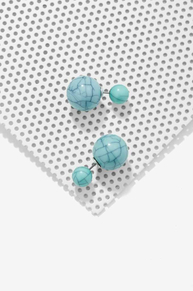 Mariage - Santa Fe Back-to-Front Earrings