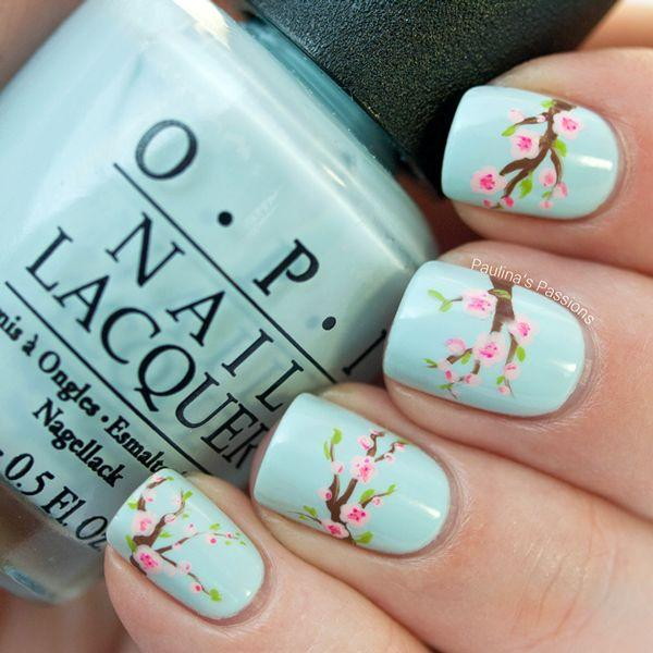 زفاف - Fabulously Floral Nail Art Designs