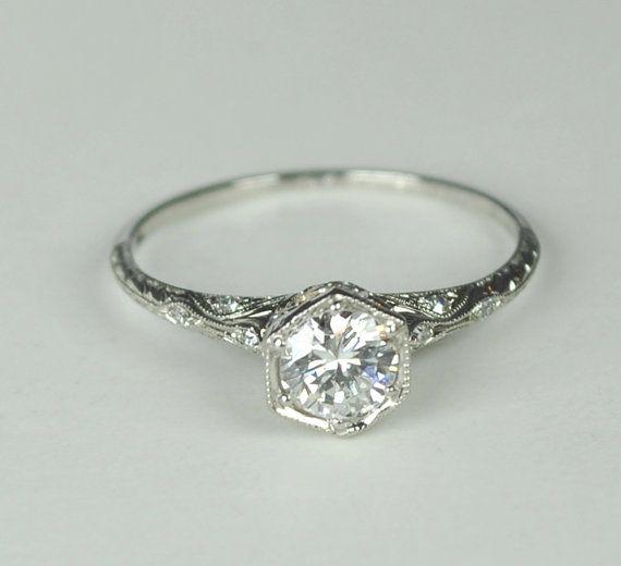Hochzeit - Simply Elegant Art Deco Engagement RIng