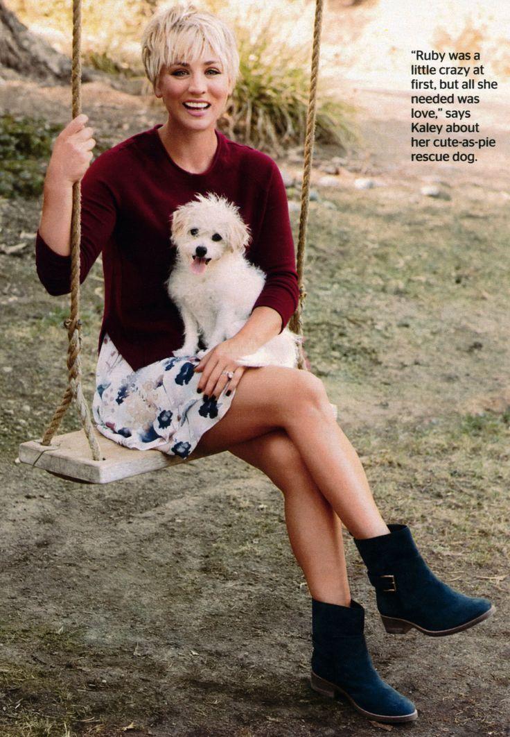 زفاف - Kaley Cuoco- Love The Pixie & Style! A Lot Of Women Just Can't Have Their Hair Cut To A Pixie.