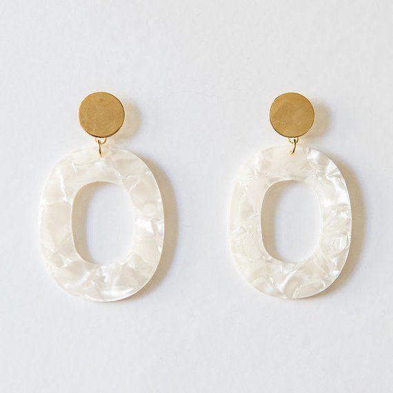Wedding - Etsy Acrylic Pearl Oval Earring